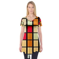 Mozaico Colors Glass Church Color Short Sleeve Tunic