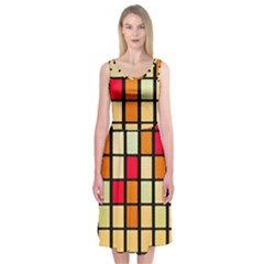 Mozaico Colors Glass Church Color Midi Sleeveless Dress