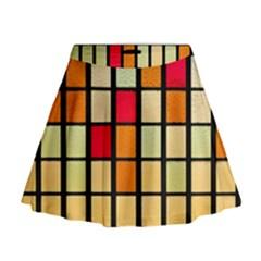 Mozaico Colors Glass Church Color Mini Flare Skirt