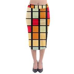 Mozaico Colors Glass Church Color Midi Pencil Skirt