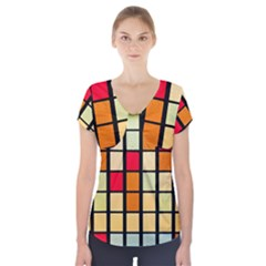 Mozaico Colors Glass Church Color Short Sleeve Front Detail Top