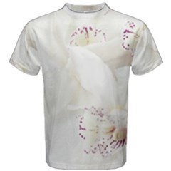 Orchids Flowers White Background Men s Cotton Tee