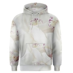 Orchids Flowers White Background Men s Pullover Hoodie