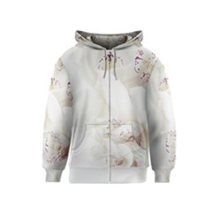 Orchids Flowers White Background Kids  Zipper Hoodie