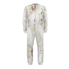 Orchids Flowers White Background Onepiece Jumpsuit (kids)