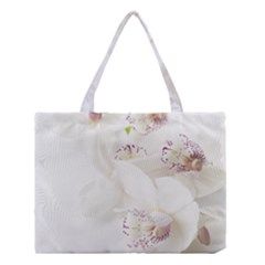 Orchids Flowers White Background Medium Tote Bag
