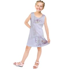 Orchids Flowers White Background Kids  Tunic Dress