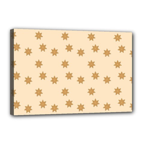 Pattern Gingerbread Star Canvas 18  X 12
