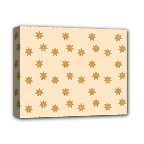 Pattern Gingerbread Star Deluxe Canvas 14  X 11