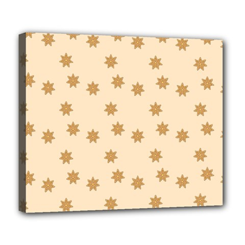 Pattern Gingerbread Star Deluxe Canvas 24  X 20