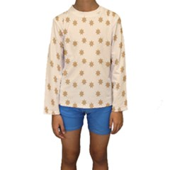 Pattern Gingerbread Star Kids  Long Sleeve Swimwear