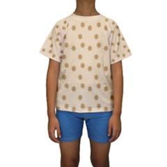 Pattern Gingerbread Star Kids  Short Sleeve Swimwear