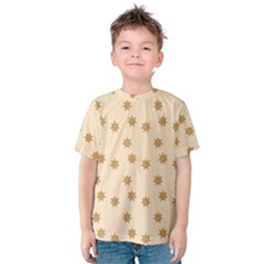 Pattern Gingerbread Star Kids  Cotton Tee