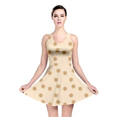 Pattern Gingerbread Star Reversible Skater Dress