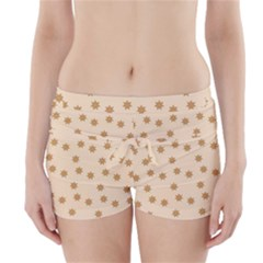 Pattern Gingerbread Star Boyleg Bikini Wrap Bottoms