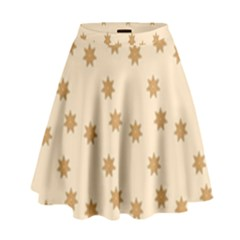 Pattern Gingerbread Star High Waist Skirt