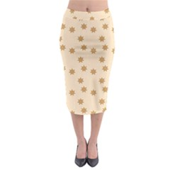 Pattern Gingerbread Star Midi Pencil Skirt