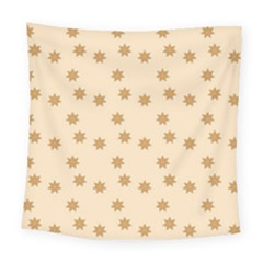 Pattern Gingerbread Star Square Tapestry (large)