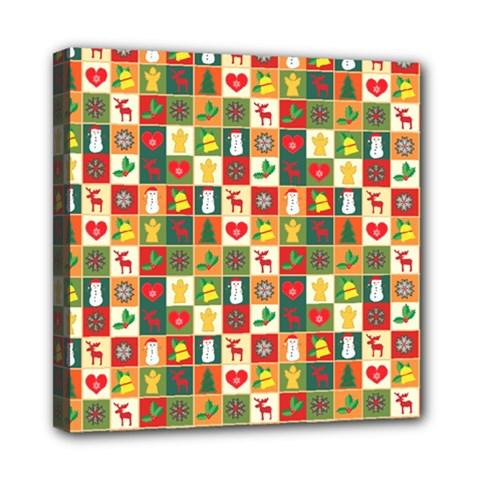 Pattern Christmas Patterns Mini Canvas 8  X 8