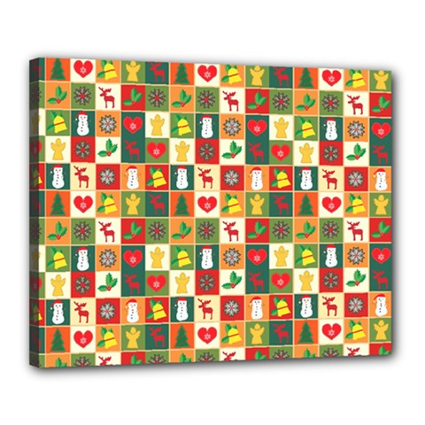 Pattern Christmas Patterns Canvas 20  X 16