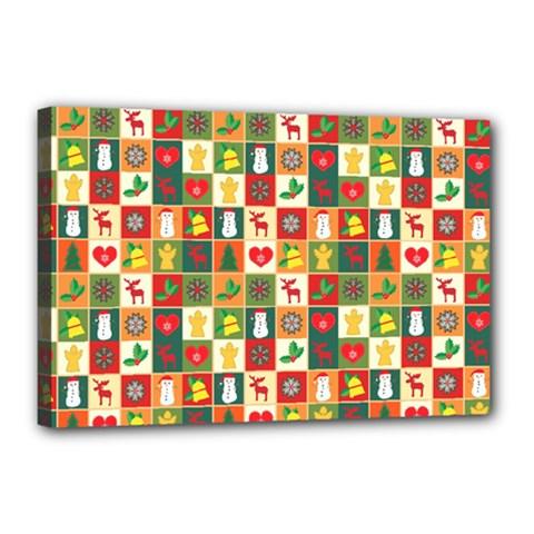 Pattern Christmas Patterns Canvas 18  X 12