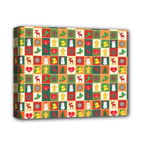 Pattern Christmas Patterns Deluxe Canvas 14  X 11