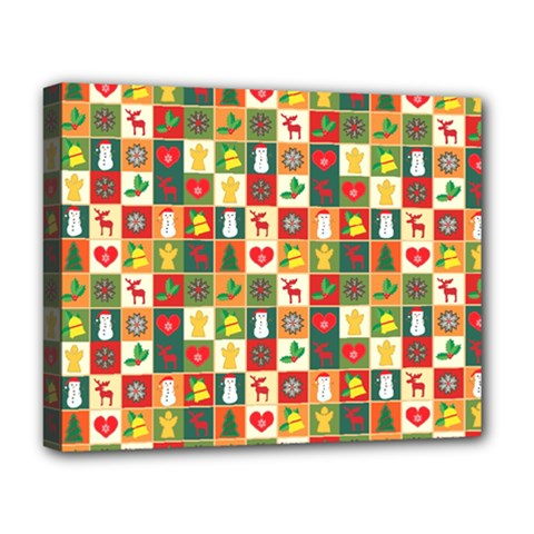 Pattern Christmas Patterns Deluxe Canvas 20  X 16