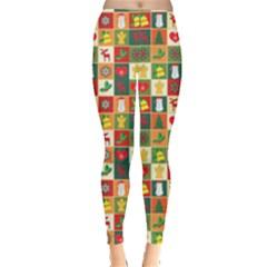 Pattern Christmas Patterns Leggings