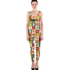 Pattern Christmas Patterns OnePiece Catsuit