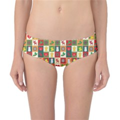 Pattern Christmas Patterns Classic Bikini Bottoms