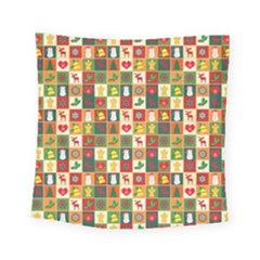 Pattern Christmas Patterns Square Tapestry (small)