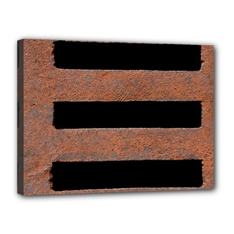 Stainless Rust Texture Background Canvas 16  X 12