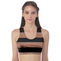 Stainless Rust Texture Background Sports Bra