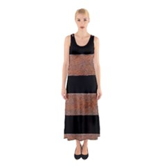 Stainless Rust Texture Background Sleeveless Maxi Dress