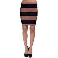 Stainless Rust Texture Background Bodycon Skirt