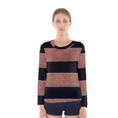 Stainless Rust Texture Background Women s Long Sleeve Tee