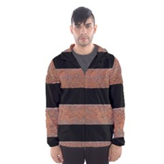 Stainless Rust Texture Background Hooded Wind Breaker (men)