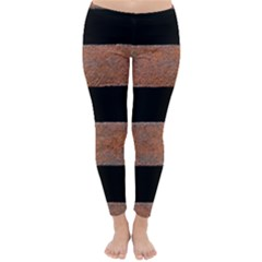Stainless Rust Texture Background Classic Winter Leggings