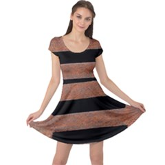Stainless Rust Texture Background Cap Sleeve Dresses