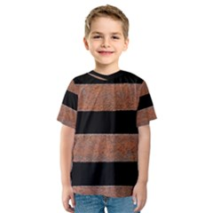 Stainless Rust Texture Background Kids  Sport Mesh Tee