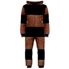 Stainless Rust Texture Background Hooded Jumpsuit (ladies)
