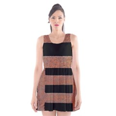 Stainless Rust Texture Background Scoop Neck Skater Dress