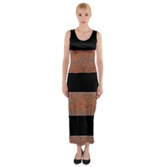 Stainless Rust Texture Background Fitted Maxi Dress