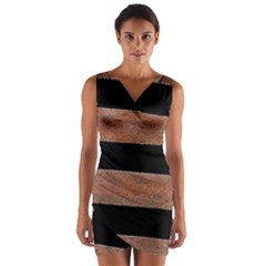 Stainless Rust Texture Background Wrap Front Bodycon Dress