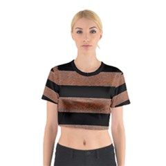 Stainless Rust Texture Background Cotton Crop Top