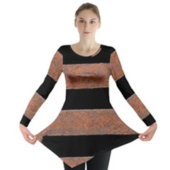 Stainless Rust Texture Background Long Sleeve Tunic