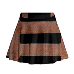 Stainless Rust Texture Background Mini Flare Skirt