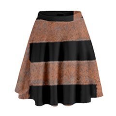 Stainless Rust Texture Background High Waist Skirt