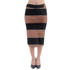 Stainless Rust Texture Background Midi Pencil Skirt