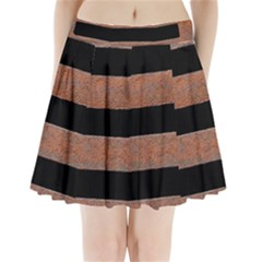 Stainless Rust Texture Background Pleated Mini Skirt
